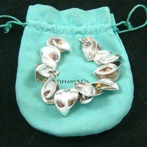 Tiffany & Co Gehry Sterling Multi Heart Bracelet